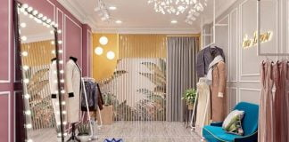 mẫu thiết kế phòng livestream bán quần áo