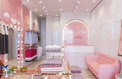 Thiết kế shop thời trang nữ màu hồng