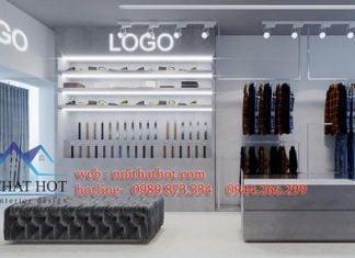 thiết kế shop thời trang nam 16m2