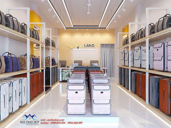 Thiết kế cửa hàng vali du lịch