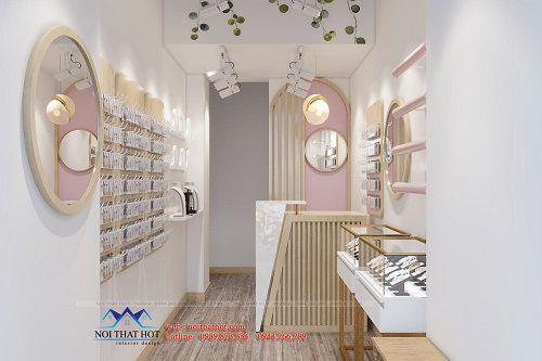 Thiết kế shop phụ kiện thời trang diện tích nhỏ
