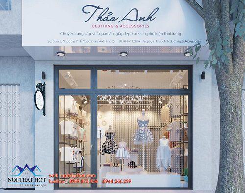 Thiết kế shop quần áo và phụ kiện thời trang