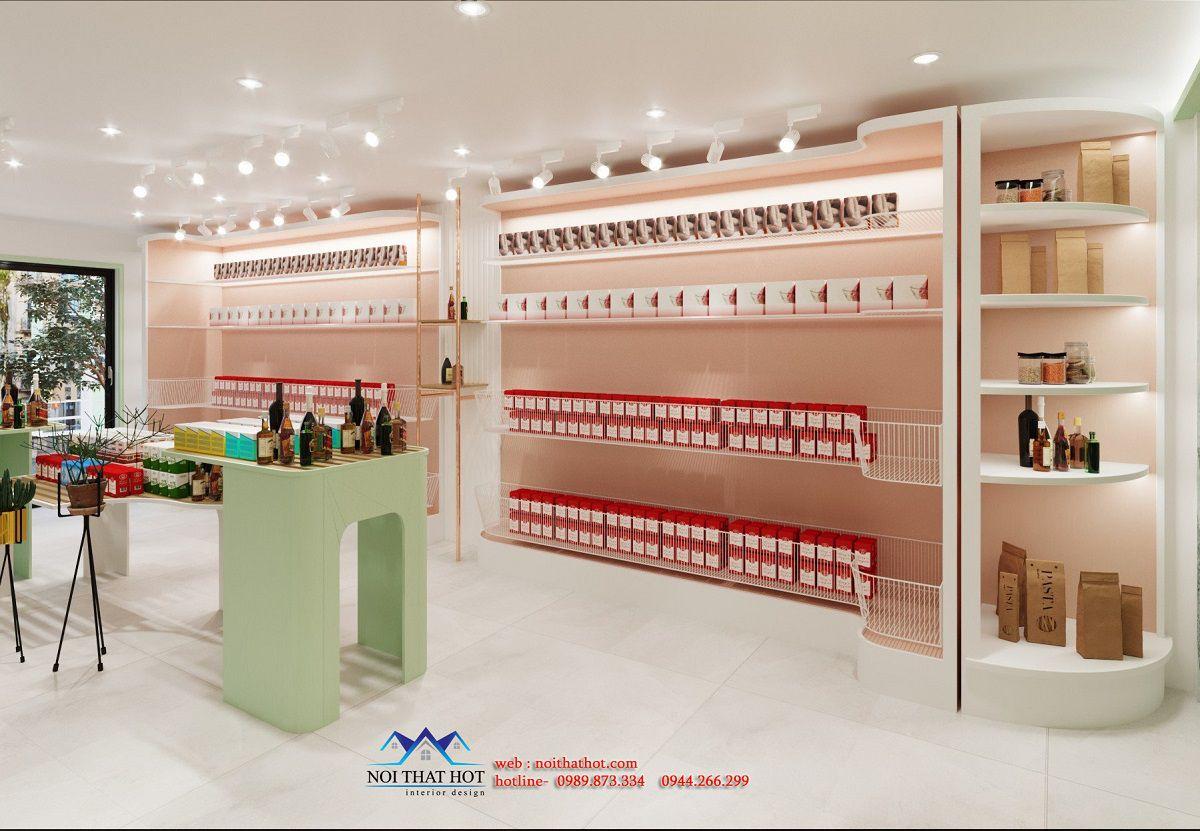 thiết kế shop bánh kẹo