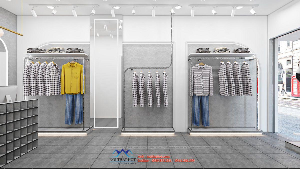 thiết kế nội thất shop thời trang nam