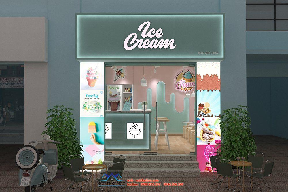 thiết kế quán kem