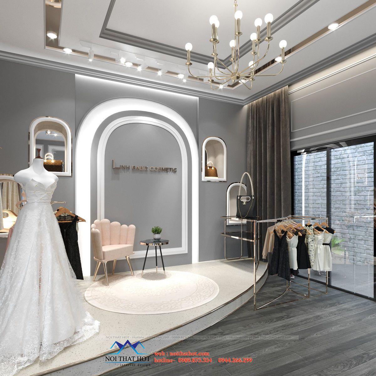 thiết kế phòng livestream quần áo