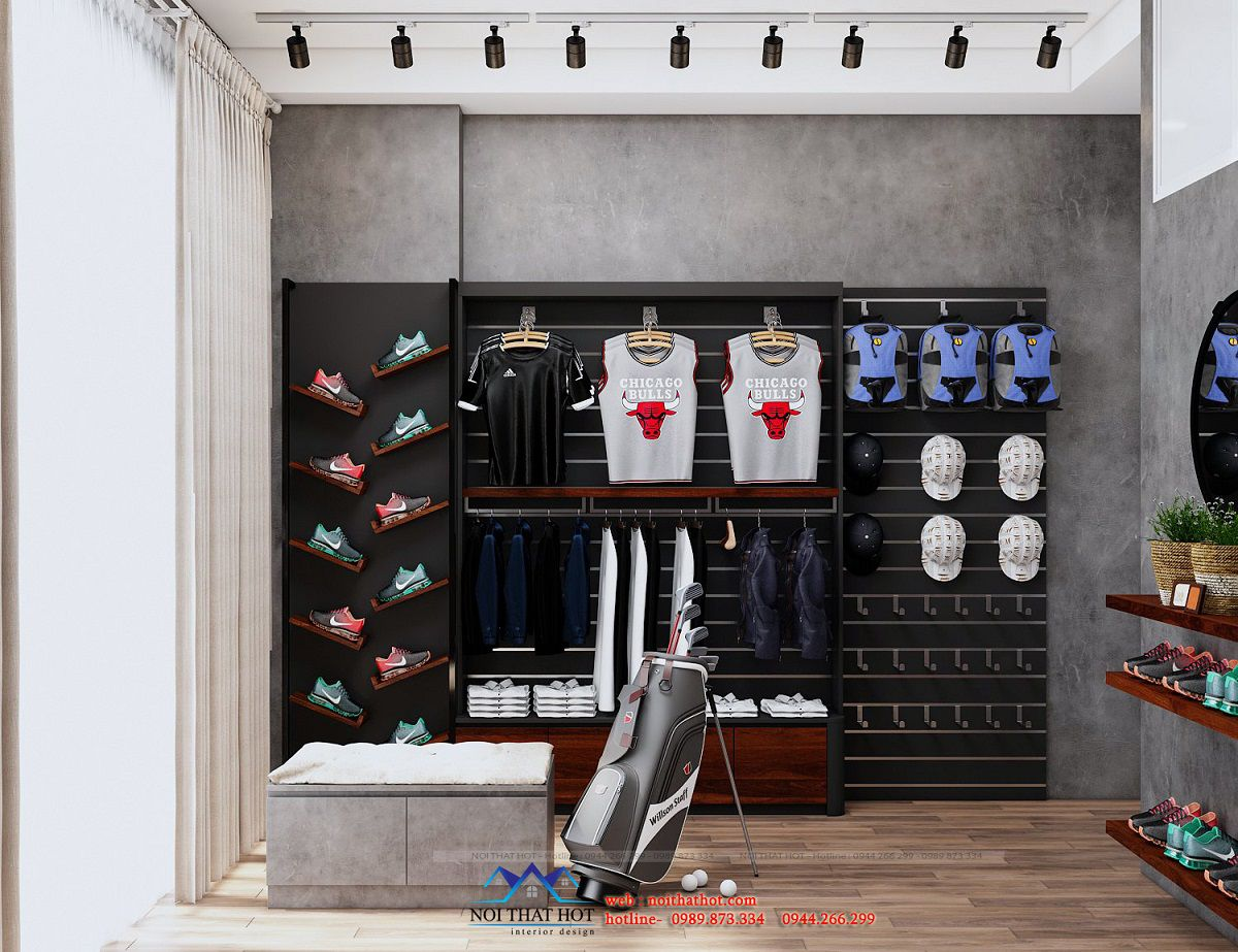 thiết kế shop thể thao