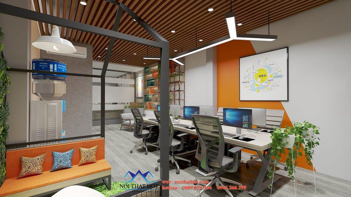 thiết kế phòng làm việc công ty