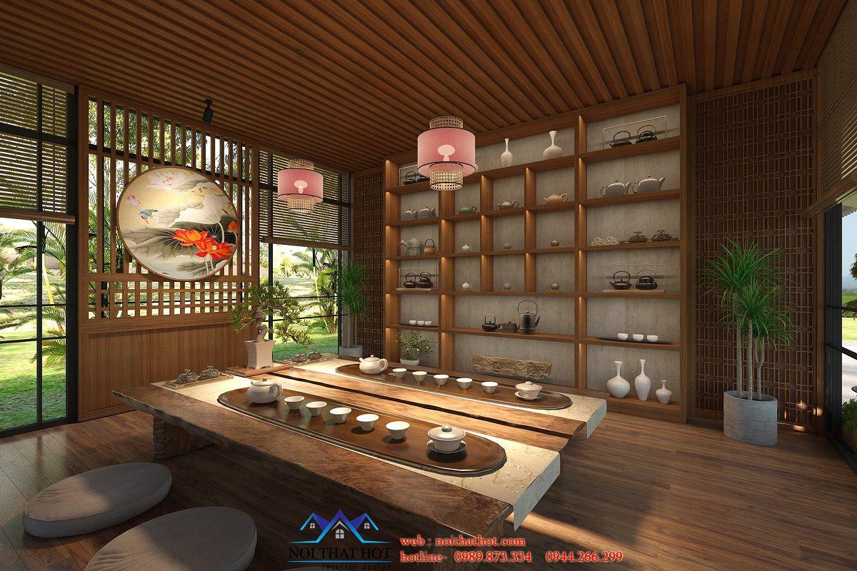 thiết kế phòng trà đạo