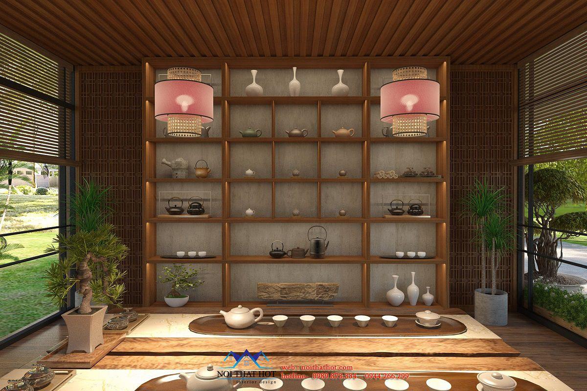 nội thất quán trà đạo