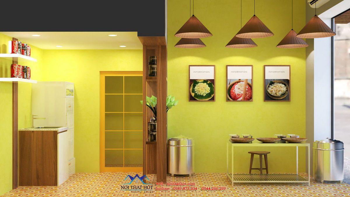 thiết kế cửa hàng ăn sáng
